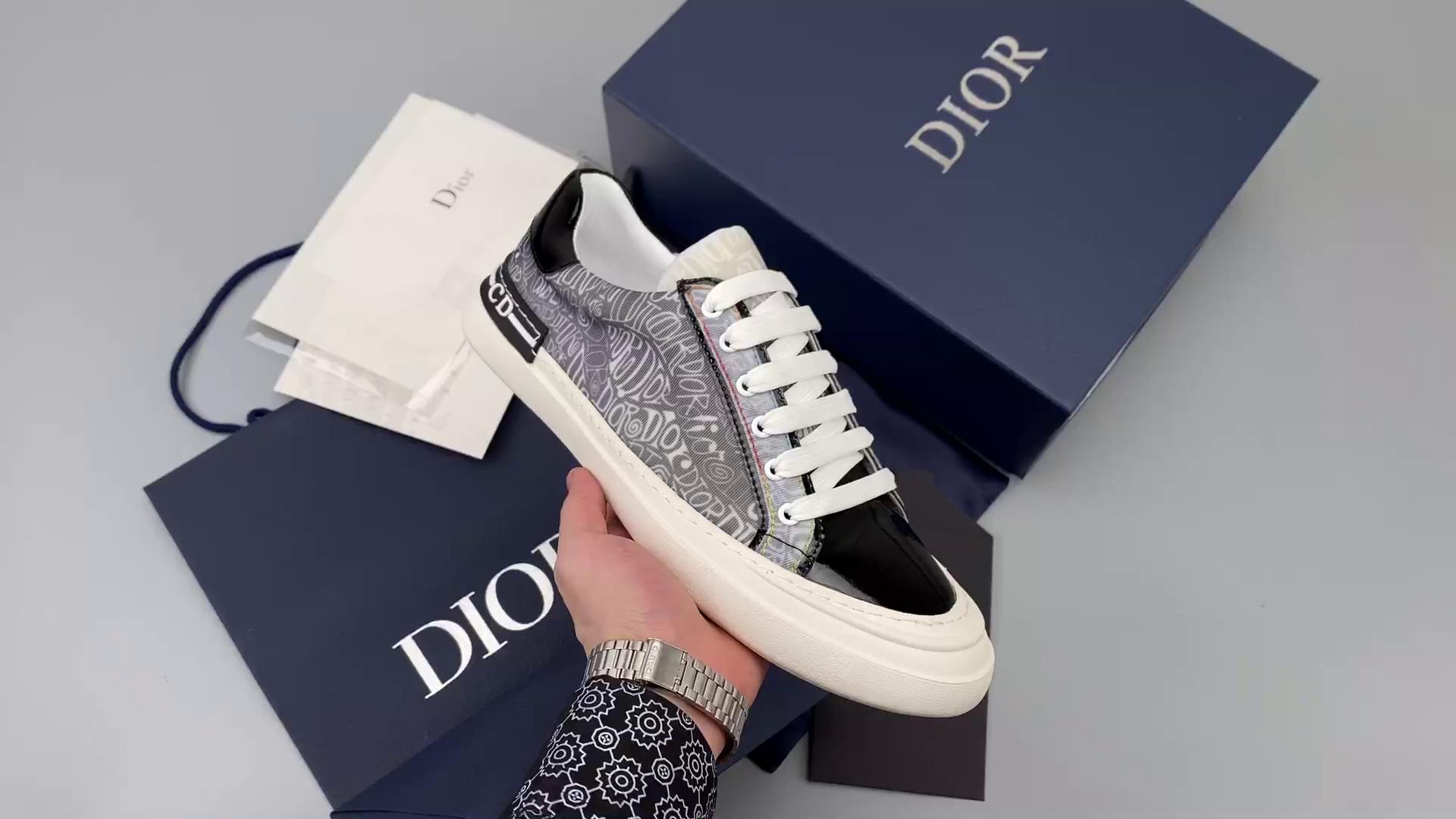 Dior B23 Oblique Low Top Sneakers-莆田红馬复刻鞋